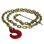 Choker Chain 1/4'' x 7 ft. w/ C-Hook and Steel Rod