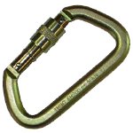 Steel locking carabiner