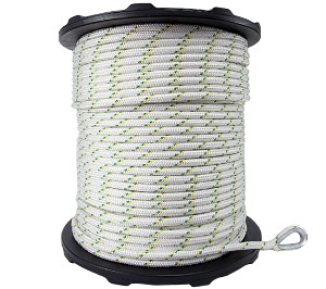 "Spliced Eye Dbl Braided Polyester Rope - 1/2"" x 984ft."