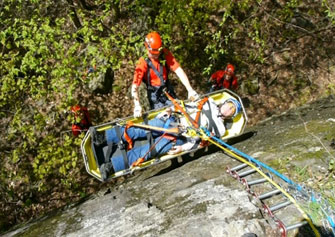 Search and Rescue helped by winch